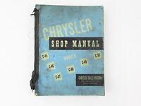 1950 Chrysler Shop Manual C-45 C-46 C-47 C-48 C-49 C-50 Original OEM