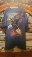 2006 The Mountain Tie Dye Bald Eagle T-Shirt Size XxL rick kelley blue tie dye