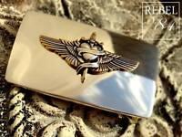 Herz Flügel Silber Wings Heart Vintage Gürtelschnalle Wechselschnalle Buckle 4cm
