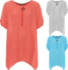 Polka Dot Cotton Machine Washable Tops & Blouses for Women