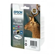 Epson T1306 XL Multipack Ink Cartridge - Cyan/Magenta/Yellow