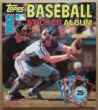 TOPPS 1982 BASEBALL STICKER YEARBOOK UNUSED