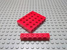 Lego Technic 5 Lochsteine 1x6 in rot 3894 Set 8971 8652 8081 7994