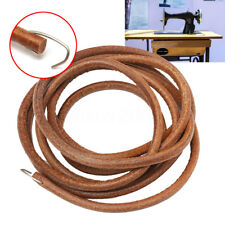 183cm 72'' Leather Treadle Belt Parts+Hook For Singer Sewing Machine Dia 3/16''