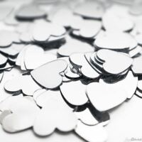 Silver Heart Confetti Anniversary Wedding Birthday Party Table Decorations 14g