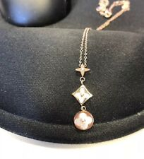 Necklace Rose Gold Flower Clover Mother Of Pearl /shell Inlay LV