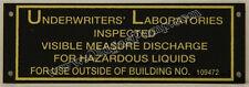 G&B Gilbert & Barker Visible Gas Pump Brass U.L. ID Tag  ID-113