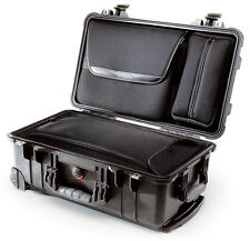 Black Pelican 1510 1510LOC Overnight Case. With Luggage insert & Lid pouch.
