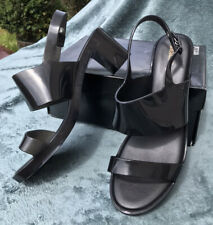 Melissa Black Block Heels Strappy Sandals 8 UK