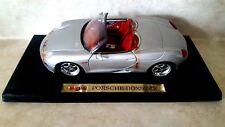 MAISTO 1:18 Diecast Porsche Boxster Silver Convertible 31814 With Box Limited