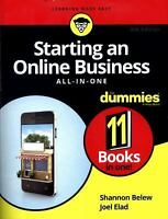 Starting an Online Business All-In-One for Dummies (Paperback or Softback)