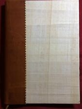 """Egyptian Leather Spine Papyrus Cover Blank Book Journal 8.5"""" x 6.25"""" Blank Pages"""