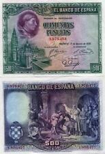 El Banco De Espana 500 Pesetas 1928 XF Spain P77 Rare Banknote Cardenal Cisneros