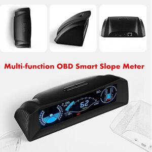 OBD2 Car HUD Computer Head Up Display Smart Digital Slope Meter Speedometer