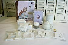 8 tlg. Küchen Deko Paket Vorrats glas Rezeptbuch Servietten Cupcake Behälter