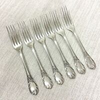 Christofle Marly Silver Plate Cutlery Large Table Forks Set of 6 French Flatware