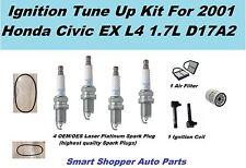 Ignition Tune Up For 01 Honda Civic EX Ignition Coil, OEM NGK Laser Spark Plug