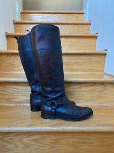 Frye Phillip Harness woman's Brown Leather Tall Riding Boots Size 10B