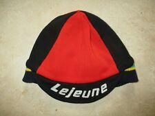 Casquette bonnet cycliste LEJEUNE rouge noir rare oldschool cap vintage 70's