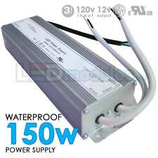 150W 12V 12.5A DC UL Waterproof-Outdoor Power Supply/Adapter LED-Factory (#2070)