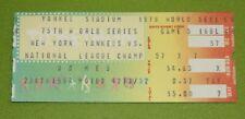 New York Yankees Ticket Stub | 1978 World Series Game 5