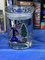 Popeye Glass Stash Jar Apothecary Prescription  Weed