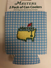 MASTERS TOURNAMENT 2 Pack of Blue/Pink Magnetic Coozies - Straight from Augusta!
