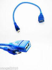 Cable Micro USB HOST OTG a USB Hembra Transferencia de Datos de Smartphone 2411a
