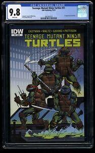 Teenage Mutant Ninja Turtles #51 CGC NM/M 9.8 White Pages 1st Jennika!
