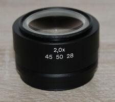 Zeiss Mikroskop Microscope Stemi Stereomikroskop Objektiv 2,0x (Nr. 45 50 28)