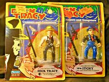 """Dick Tracy & ""Itychy"" 2 Disney Playmates Figures L@K *Free Shipping*"