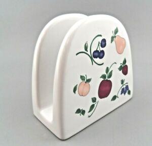 Princess House Orchard Medley Napkin Holder Fruit Theme EUC