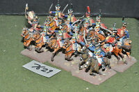 25mm napoleonic / french - hussars 12 cavalry painted metal - cav (7629)