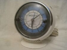 htf vintage SONY TR-C290 AM alarm clock radio retro future sphere solid state