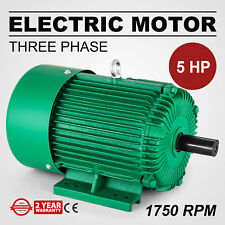 Electric Motor 5 HP 3 Phase 1750 RPM 1.125'' shaft 60 Hz Outdoors Waterproof