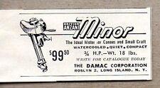 1954 Print Ad British Anzani Minor Outboard Motors Damac Corp Long Island,NY