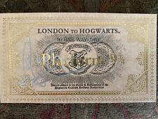 HARRY POTTER RUPERT GRINT SIGNED LONDON TO HOGWART'S TRAIN TICKET, RARE ORIGINAL