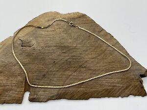 "Vintage 1/20 12K GF Gold Filled 15"" Chain Necklace Serpentine"