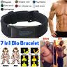 7 in 1 Men Titanium Magnetic Energy Germanium Armband Bracelet Health Bio Black