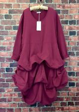 NWT MOONLIGHT FASHION Lagenlook Parachute Hem Dress Cotton Jersey Sz Plus 3 (2X)