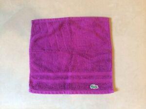 Lacoste Washcloth Bathroom Towel Rag Croc Logo