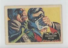 1966 A&BC Batman Black Bat #6 Chroloform Victim Non-Sports Card 0v9