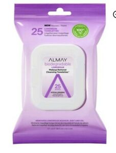 Almay Biodegradable Longwear Makeup Remover Cleansing Towelettes 25 Wipes NEW