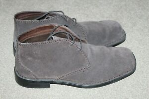 MENS ROCKPORT BROWN SUEDE BOOTS UK 8 US 8.5W