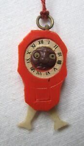 Vintage Japanese Kobe Charm Pop Out Eyes Clock Dangling Legs