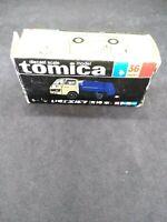 Tomica 36 Isuzu Elf Garbage Truck in Original Box 1:67 Scale Made in Japan