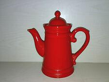 Kaffeekanne Teekanne Kakao Kanne Rot Red 60s / 70s Keramik Pottery Space Age ***