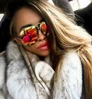 Candy HOT Colors Oversized Large XL Porshe LUX BIG Metal Aviator Sunglasses 4163