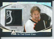 2017 Leaf ITG In The Game Used Game Silver Patch PETER FORSBERG #GUP-36 2/2
