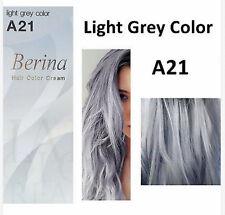 Berina hair color permanent cream hair dye light gray silver A21 Free shipping